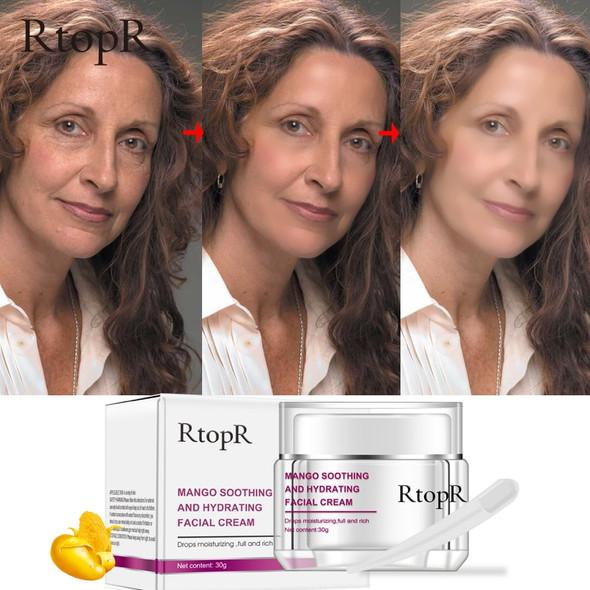 RtopR Face Cream Anti-Wrinkle Anti Aging Whitening Mango Bright Moisturizing Liquid Tights Nourishing Shrink Pores High Quality