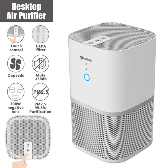 Air Purifier With True HEPA Active Carbon Filter Dust Active Ozone Generator Sterilizer Control Smoke Clean Household Appliances