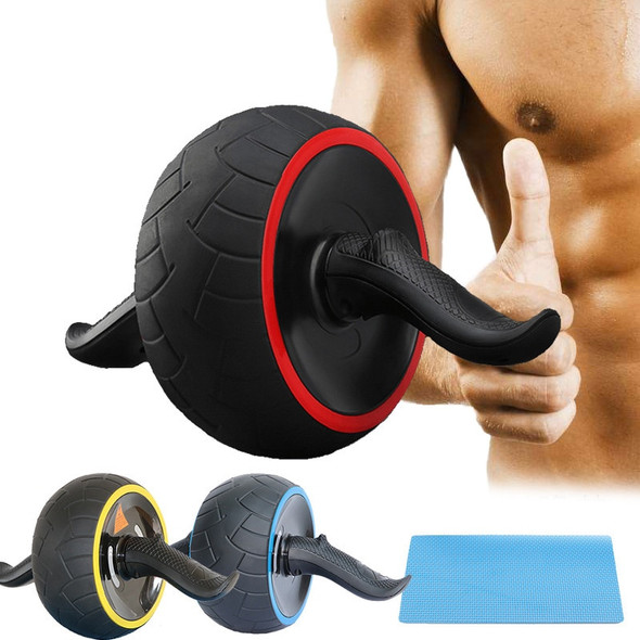 New Keep Fit Wheels No Noise Abdominal Wheel Round Ab Roller Trainer With Mat For Exercise Fitness Home Gym Equipment