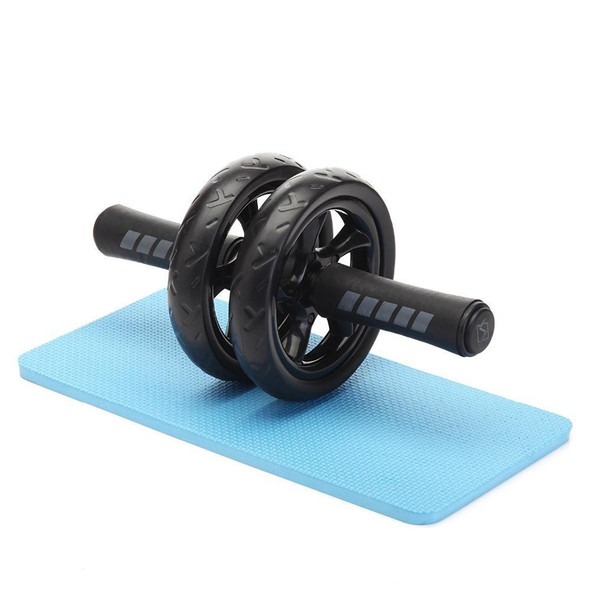 New Keep Fit Wheels No Noise Double Abdominal Wheel Ab Roller With Mat For Exercise Fitness Equipment Man Women GYM