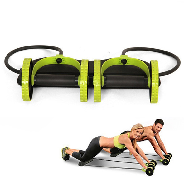 Ab Roller Wheel Trainer with Mat Abdominal Wheel Fitness Arm Waist Leg Muscle Exercise Equipment Home Training