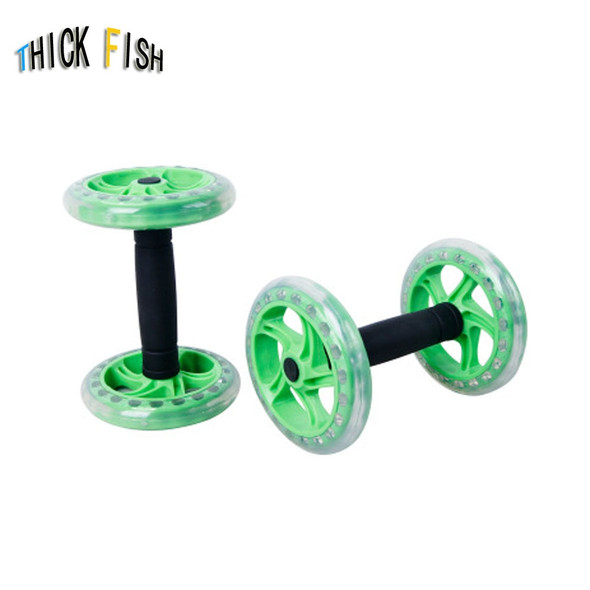 1PAIR Fit abdominal round fitness combination mute multi-function wheel abdomen No Noise Abdominal Wheel Ab Roller