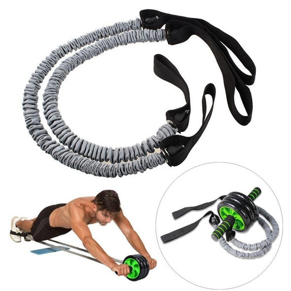 Fitness Abdominal Wheel Roller Resistance Band Ropes AB Exercise Trainer Assistant Elastic Tube For Beginner Gym Equipments