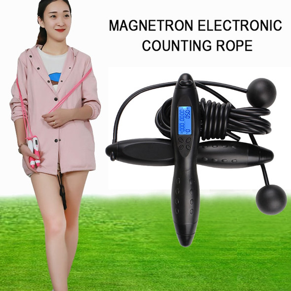 Jump rope Novel Multifunctional Magnetic Control Electronic Counting Rope Skipping Rubber Handle Four Key Calorie Wireless Rope