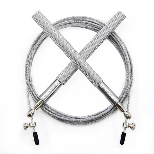 ProCircle Silver Speed Jump Rope Best Bearing Speed Cable for Double Unders Skipping Rope Fitness free bag