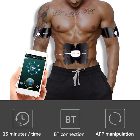 EMS Smart Mobile Phone APP Abdominal Fitting Device Abdomen Fitness Muscle Fitness Equipment Weight Loss Abdominal Muscle Paste