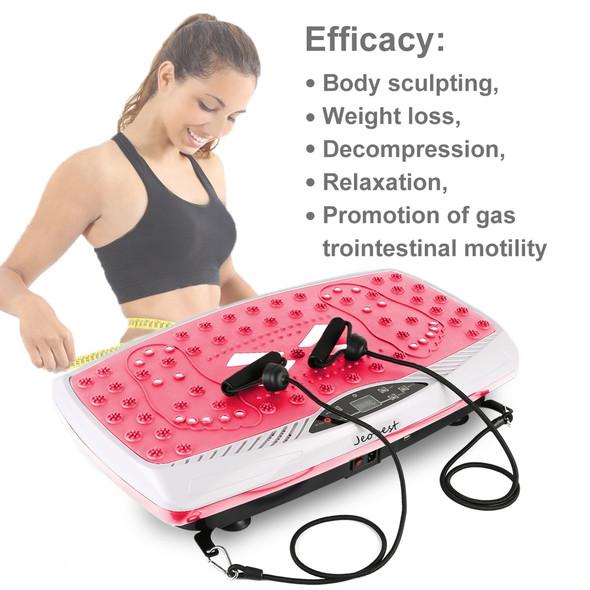Exercise Equipment Fitness Vibration Plate Massager Slimming Fat Burning Muscle Workout Vibration Platform HWC