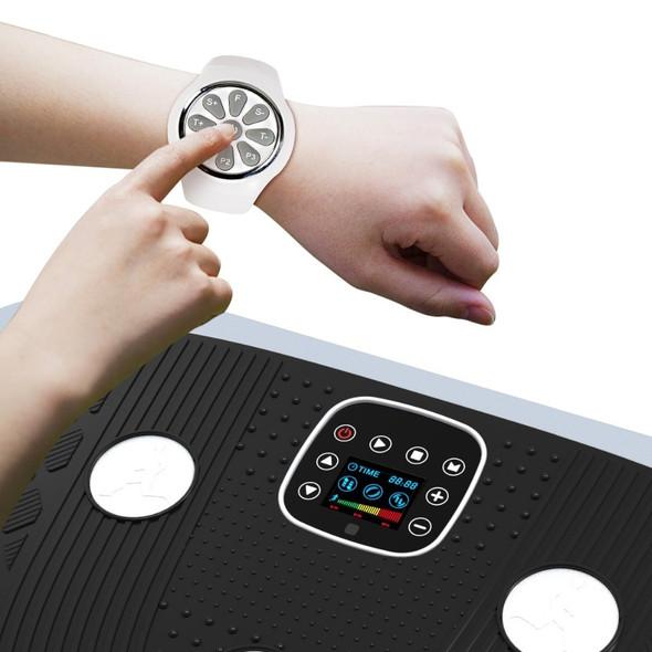 Oscillating and Vibrating Platform Professional Vibro Shaper Power Plate, 2 Motors, 3 Vibration Modes, Wrist Remote