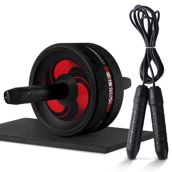 2 in 1 Ab Roller&Jump Rope No Noise Abdominal Wheel Ab Roller with Mat for Exercise Fitness