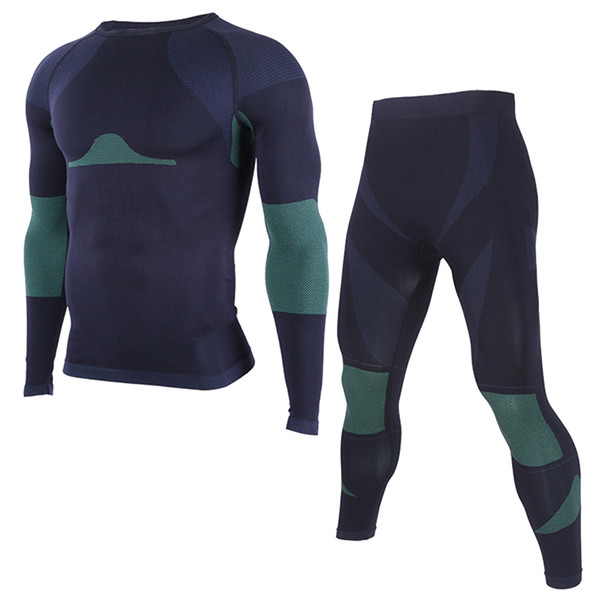 Winter Thermal Long Johns Underwear Sets for Men 2 Pieces Under Base Layers Sportswear Compression Shirts Pants Size M