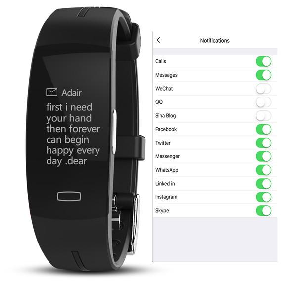 H66 blood pressure wrist band heart rate monitor PPG ECG smart bracelet Activit fitness tracker electronics wristband