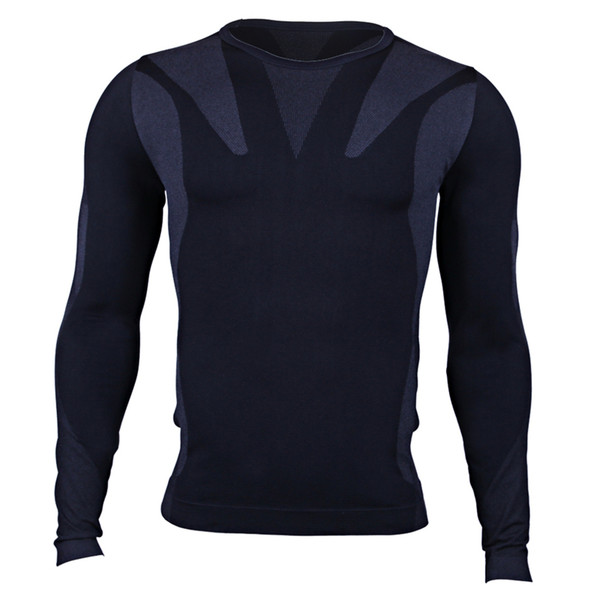 2 Pcs Mens Fitness Compression Shirts Pants Suit Long Sleeve Sportswear Under Base Layer Set Thermal Crossfit Tracksuit