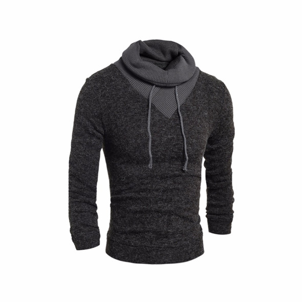 New Fashion Winter Thermal Turtleneck Men Sweater Solid Cotton High Roll Belt Collar Male Tops Shirts Long Sleeve