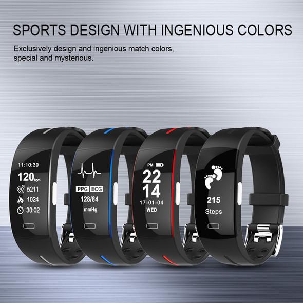 P3 ECG PPG Smart Band Watch Bracelet Blood Pressure Heart Rate Fitness Tracker monitor Sport Pedometer IP67 Waterproof Wristband