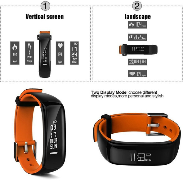 P1 Smartband Activity Tracker Smart Watch Blood Pressure Monitor Smart Band Pedometer Wristband Fitness Bracelet For iOS Andriod