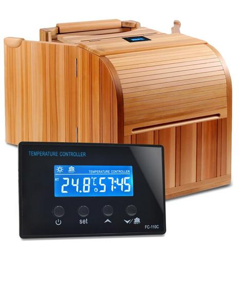 Digital LCD Mini Sauna Room Temperature Controller with Foot Spa