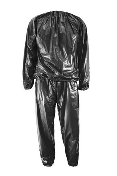 Heavy Duty Fitness Weight Loss Sweat Sauna Suit Exercise Gym Anti-Rip Silver and Black