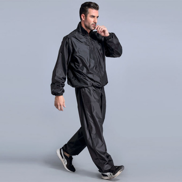 High Quality Sweating Suits for Workouts Sauna Suit Men PVC Sport Tops+Pants Set Sweat Quick Lose Weight Fitness Running Jogging