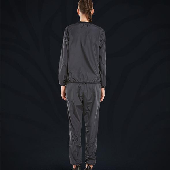 Women Sauna Suit Set Heavy Duty Weight Lost Fitness Clothing Black Silver Running Jogging Training Body Building Gym Sportswear