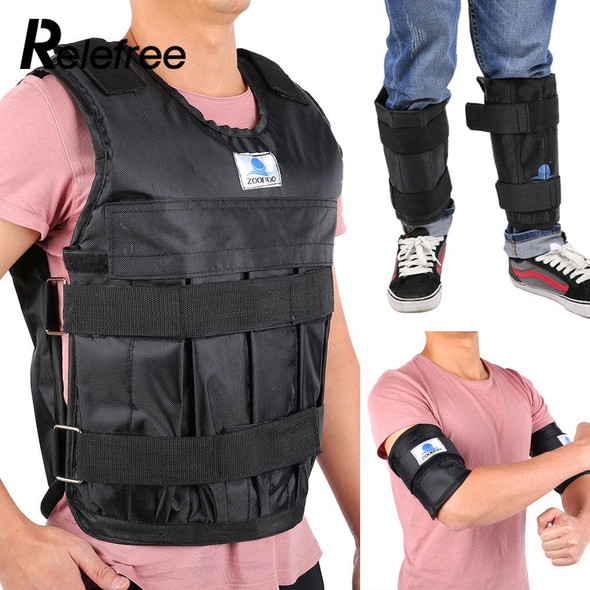 44LBS Adjustable Empty Weighted Vest Jacket Exercise Boxing Training Waistcoat