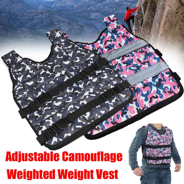Adjustable Camouflage Weighted Weight Vest Boxing Exercise Training Fitness Jacket Gym Fitness Equipment