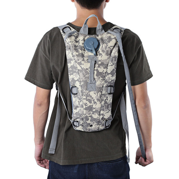 3L Portable Hydration Backpack Camo Tactical Backpack Bicycle Bag Camel Bladder Water Bag Assault Bike Backpack Camping Pouch
