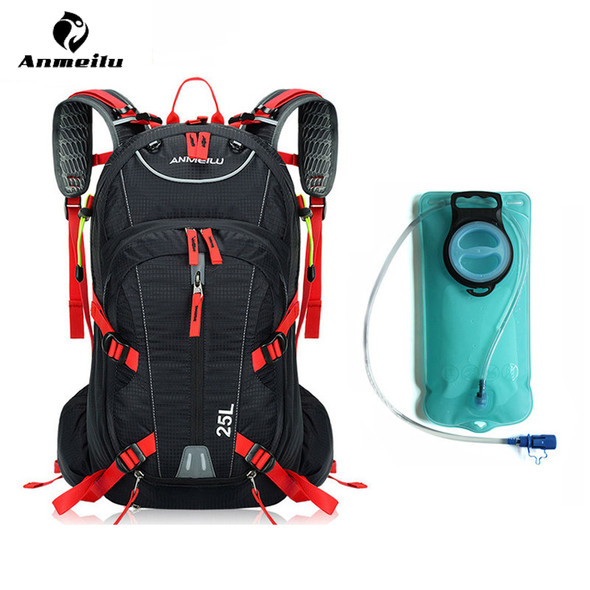 Water Bag With Rain Cover Waterproof 25L Outdoor Sport Bag Camping Climbing Hiking Cycling Backpack Hydration Bladder