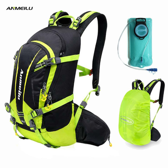 2L Water Bag 20L Camping Backpack Waterproof Hiking Cycling Climbing Hydration Backpack Water Bladder Sports Travel Bag