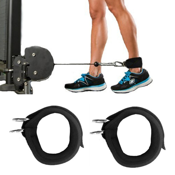 Ankle Strap D-ring Multi Gym Cable Attachment Thigh Leg Pulley Weight Lifting Fitness Rope Multi Thigh Leg Ankle Cuffs Power