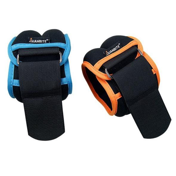 1kg/pair Neoprene Adjustable Ankle Wrist Iron Sand Bag Weights Straps Strength For Training Exercise GYM Running SandBag