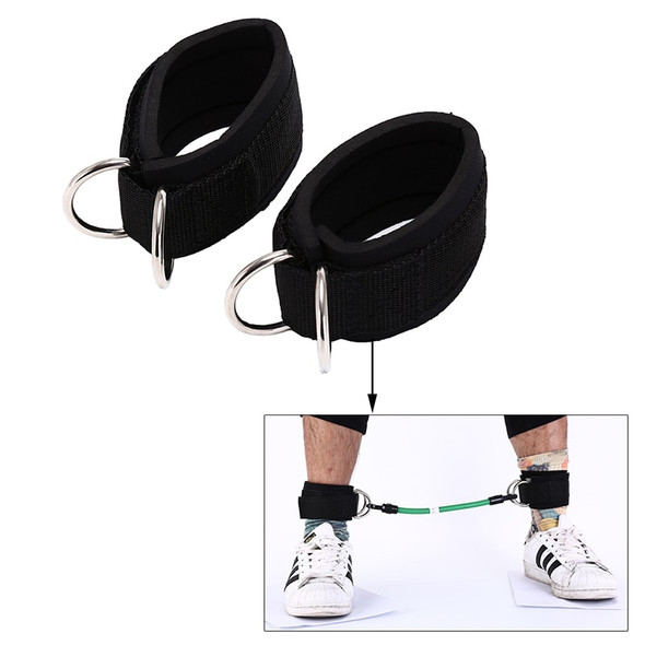 2pcs 24m Sport Ankle Strap Padded Adjustable D-ring Ankle Cuffs for Gym Workouts Cable Machines Butt Leg Weights Exercises