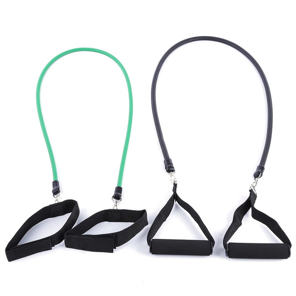 11pcs/set Latex Tubing Expanders Exercise Tubes Strength Resistance Bands Pull Rope Pilates Crossfit Fitness Equipment