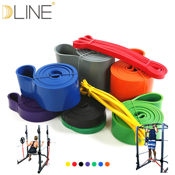 Resistance Bands Fitness CrossFit Elastic Band 208CM Natural Latex Loop Bands Gym Power Training For Pilates Exercise  Workout
