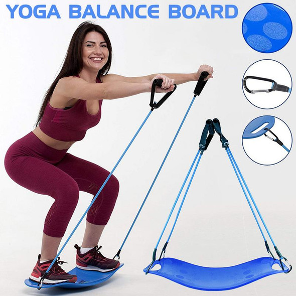 Twisting Fitness Balance Board with Pull Rope Simple Core Workout