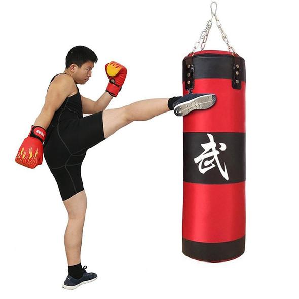 Home Oxford 80CM Boxing Thai Training Fighting Bag Sandbag Punching Bag For Stress Relief Home Gym Aerobic Training MMA Exercise