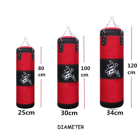 120cm Training Fitness MMA Boxing Punching Bag Empty Sport Kick Sandbag Muay Thai Boxer Training Set Wraps & Hook &a pair Gloves