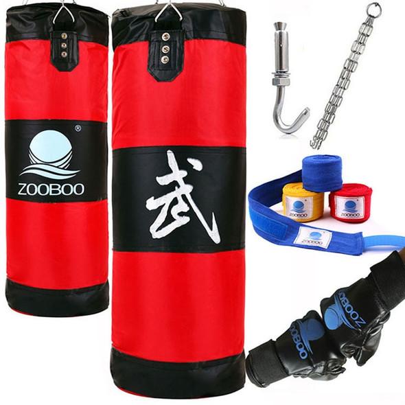 90cm Training Fitness MMA Boxing Bag Hook Hanging Saco De Boxe Fight Bag Sand Punch Punching Bag Sandbag with Gloves