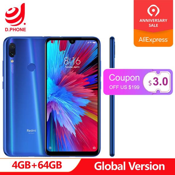 "In Stock Global Version Xiaomi Redmi Note 7 6.3"" Full Screen Snapdragon 660 AIE 4GB RAM 64GB ROM 4G LTE Smartphone 48MP Phone"