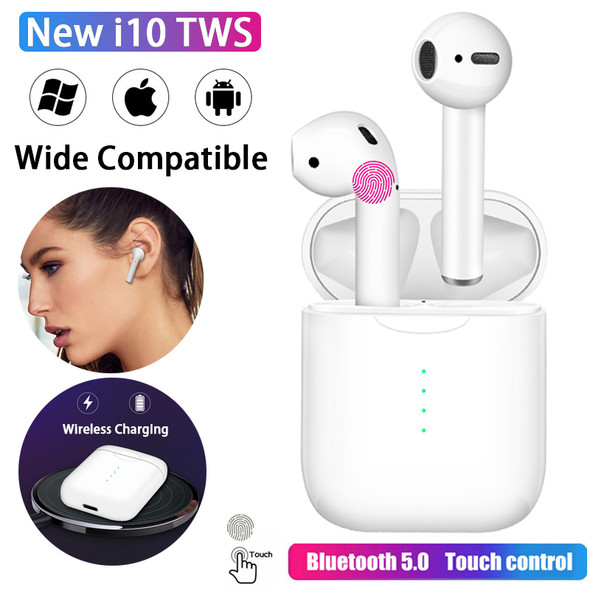i10 tws Wireless Headphones Bluetooth 5.0 Earphone Auriculares Earbuds Headset Touch control For All Smart Phone Apple Android