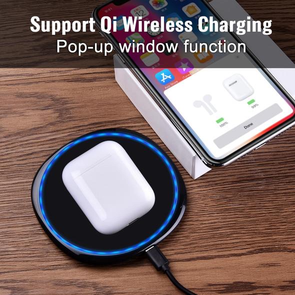 i60 TWS Pop up 1:1 Qi Wireless Charging Bluetooth 5.0 Earphone Bass Earbuds i30 PK Pods i20 i10 TWS W1 Chip
