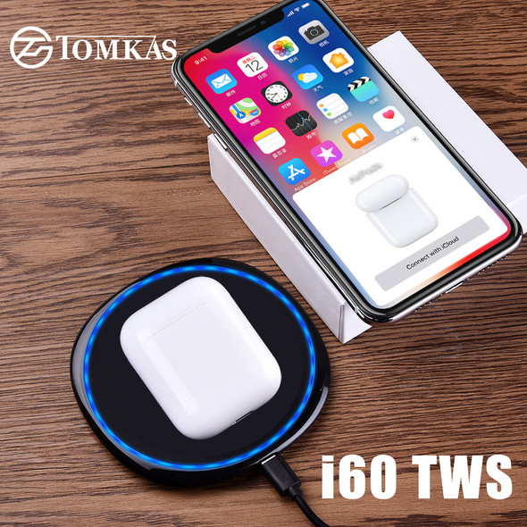 i60 TWS Pop Up 1:1 Size Wireless Bluetooth Earphone Separate Use QI Wireless Charging Bass Earphones PK i30 i20 i12 i10 TWS