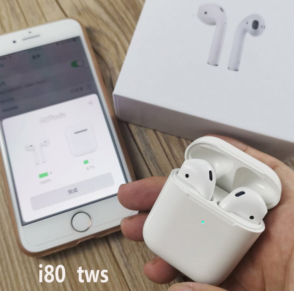 2019 i80 i30 1:1 pods 2 TWS Super Bass Touch contorl Wireless Tws Bluetooth headphones earphone headsets Earphones PK W1 Chip