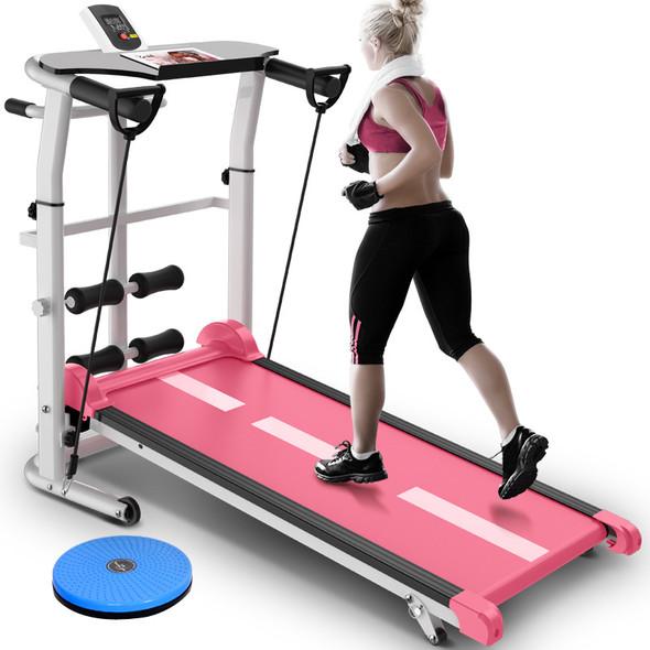 Mini Folding Treadmill  Mute Fitness Equipment Wide Run Belt Treadmill 3 In 1 Twisting Waist Machine 300kg Bearing