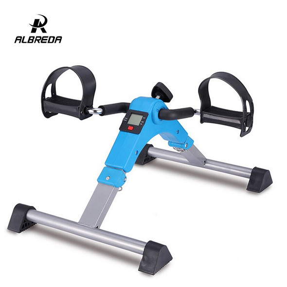ALBREDA Mini exercise bike fitness treadmill LCD Display lose weight Indoor Cycling Stepper