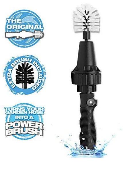 """Brush Hero- Wheel Brush, Premium Water-Powered Turbine for Rims, Engines, Bikes, Equipment, Furniture and More  """"brush hero wheel brush"""""""