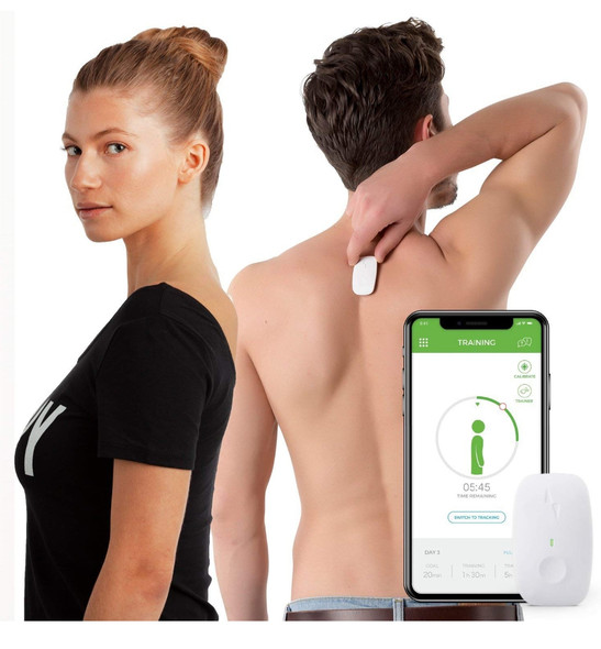 Upright GO Original | Posture Trainer and Corrector for Back | Strapless, Discrete and Easy to Use | Complete with App and Training Plan | Back Health Benefits and Confidence Builder