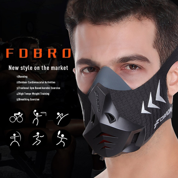 1 Sports Mask Pro High Altitude Protective Breathing Trainer Air Filter Mask Phantom Training Running Dust Mask Cardio