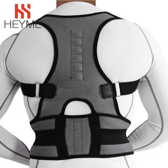 Magnetic Posture Corrector, Neoprene Back Corset Brace Straightener + Spine Support Belt for Men/Women