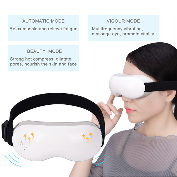 Rechargeable Eye Massager Adjustable Eastic Headband Wireless Massage Glasses Hot Compression Multifrequency Vibrating Goggles49