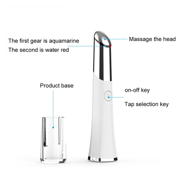 Eye & Face Massager Beauty Device With High Frequency Vibrating Massager + Anti-aging Galvanic Wand Anions Eye Care Tool